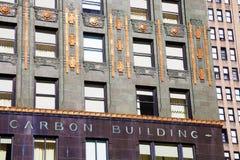 Detail des Karbid- und Kohlenstoffgebäudes in Chicago stockfotos