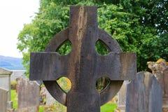 Detail des keltischen Kreuzes Stockfotografie