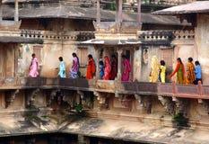 Detail des Khurajaho Tempels Stockbild
