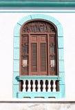 Detail des Kolonialgebäudes in Santiago Kuba Lizenzfreies Stockfoto