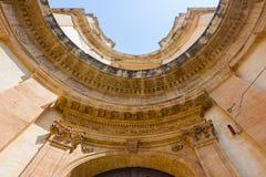 Detail des konkaven façade der Kirche von Montevergine oder von S Stockbild