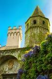 Detail des Landhauses Cimbrone in Ravello auf der Amalfi-Küste das Konzept von Tourismus und von Kultur Italien Lizenzfreies Stockbild