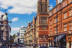 Detail des London-Stadtzentrums nahe Duke Street und Oxford-Straße lizenzfreies stockfoto