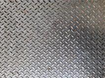 Detail des Metallbodens mit prägeartigem Muster Stockfoto