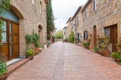 Detail des mittelalterlichen Dorfs von Sovana, Toskana stockfotografie