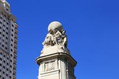 Detail des Monuments zu Cervantes, Madrid lizenzfreie stockbilder