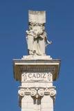 Detail des Monuments zur Konstitution von 1812 an Spanien-Quadrat I Lizenzfreies Stockbild