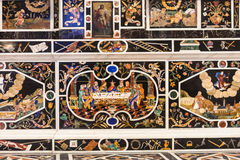 Detail des Mosaik-Altars in Chiesa-Di Santa Corona Lizenzfreie Stockfotografie