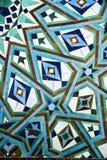 Detail des Mosaiks eines Brunnens Stockbilder