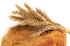 Detail des Ohrs auf dem selbst gemachten Brot Lizenzfreie Stockbilder