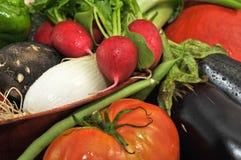 Detail des organischen Gemüses Stockfotos