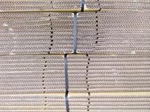 Detail des Pappstapels Stockbild