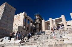 Detail des Propylaea am 1. Juli 2013 in Griechenland. Akropolis, Athen lizenzfreies stockfoto