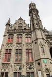 Detail des provinziellen Palastes, Brügge einschließlich Turm Stockfotografie