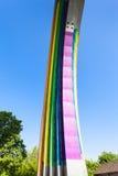 Detail des Regenbogen gemalten Bogens der Verschiedenartigkeit stockbilder