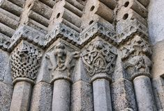 Detail des Romanesqueklosters von Sao Pedro de Ferreira Stockfoto