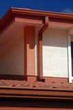 Detail des roten Dachs Stockfoto