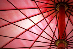 Detail des roten Regenschirmes entziehen Sie Hintergrund Lizenzfreie Stockfotografie