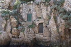 Detail des Schlosses Lovrijenac auf einer Klippe in Dubrovnik, Kroatien Lizenzfreies Stockbild
