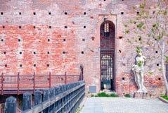 Detail des Sforza-Schlosses Castello Sofrzesco, Mailand Stockfotografie