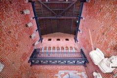 Detail des Sforza-Schlosses Castello Sofrzesco, Mailand Stockbild