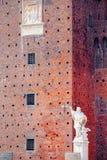Detail des Sforza-Schlosses Castello Sofrzesco, Mailand Stockfotos