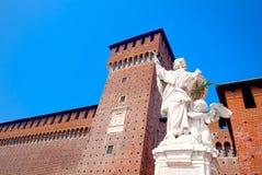 Detail des Sforza-Schlosses, Mailand Stockfoto