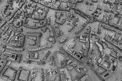 Detail des Stadtmodells Erfurt Stockfotos