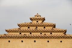 Detail des traditionellen Baus für die Züchtung von Tauben Lizenzfreie Stockfotos