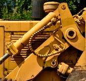 Detail des Traktors hydraulisch lizenzfreie stockbilder