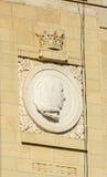 Detail des Triumphbogens Arcul de Triumf von Bukarest Stockbild