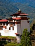 Detail des Trongsa Dzong in Bhutan Lizenzfreies Stockfoto