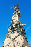 Detail des Vitoria-Kampfmonuments, Vitoria, Spanien lizenzfreie stockfotografie