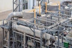 Detail des Wärmekraftwerkes Delimara, Marsaxlokk, Malta Stockfotos