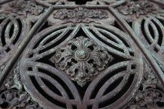 Detail des Wappens auf einem Brunnen Lizenzfreie Stockfotos