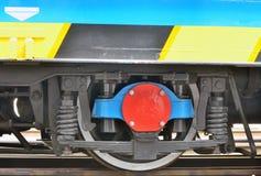 Detail des Zug-Rades Stockfoto