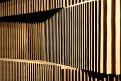 A detail of a design partition made of cardboard.  stock images