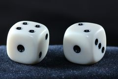 Detail of dice with Stock Images