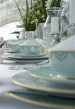Detail of dining table setting royalty free stock image