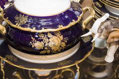 Detail of  dining tableware set Stock Photos