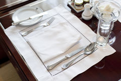 Detail of dinning table Stock Images