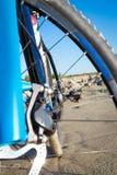Detail disc brakes on mountain bike Royalty Free Stock Photos