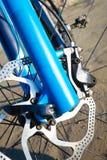 Detail disc brakes on mountain bike Royalty Free Stock Photography