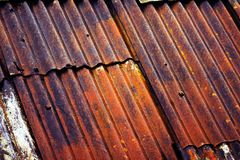 Rusty shed roof Stock Photography