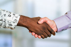 Detail of diverse business handshake. Royalty Free Stock Photos