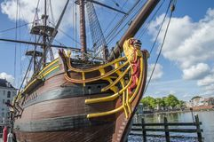 Detail Of The Doen VOC Ship At The Scheepvaartmuseum Amsterdam The Netherlands.  Stock Photography