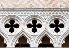 Detail of Doge's Palace facade Stock Photography
