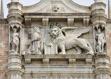 Detail of Doges palace Royalty Free Stock Photo