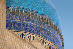 Detail of the dome of the ancient mosque of Kalyan stock photography