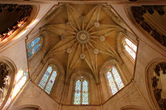 Detail of the dome at the Batalha Monastery, Portugal Stock Photo